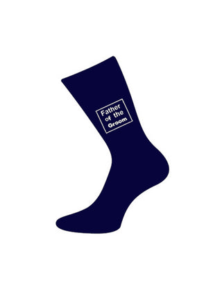 wedding socks father of bride navy