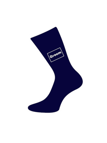 navy groom socks