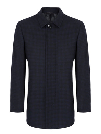 mens navy overcoat