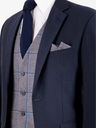 Navy Mohair Wedding Suit