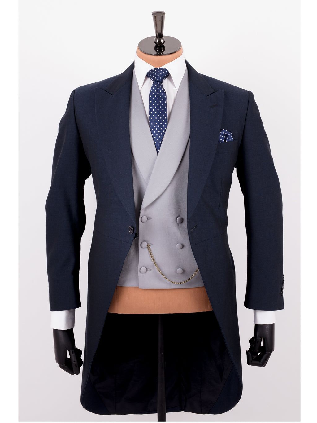 Navy Mohair Tailcoat Wedding Suit