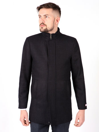 navy overcoat mens