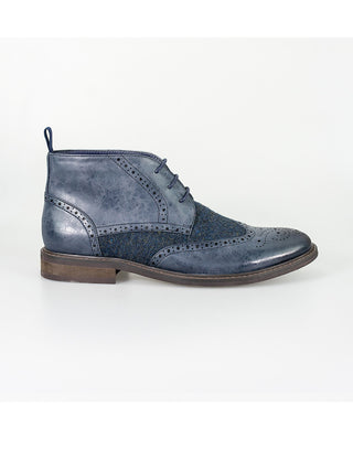 mens navy boots