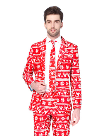 christmas suit red