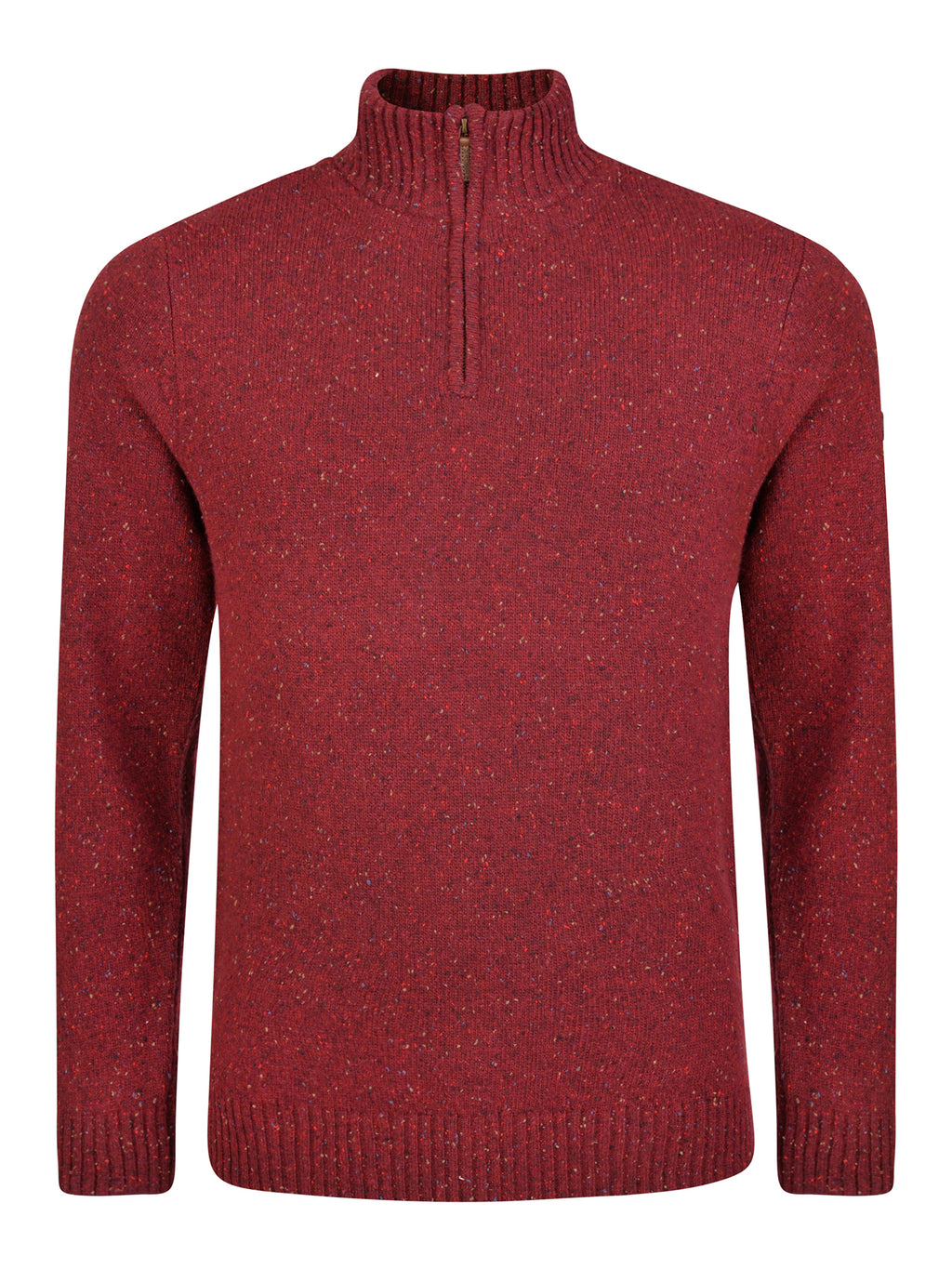 red lambswool jumper