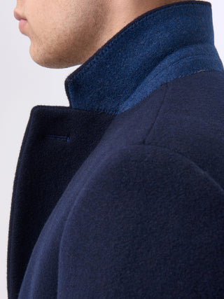 mens coat navy remus uomo