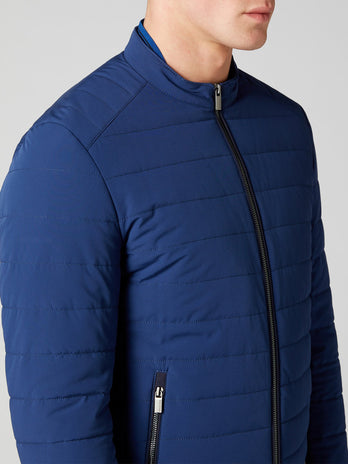 mens blue pufa coat