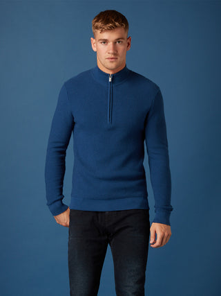 Remus - Blue 1/2 Zip Sweater