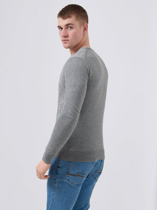 mens grey slim fit sweater