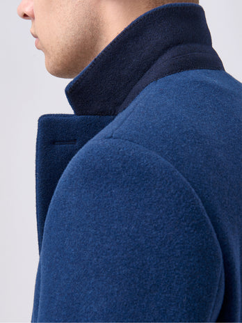 Blue Mens Overcoat by Remus Uomo