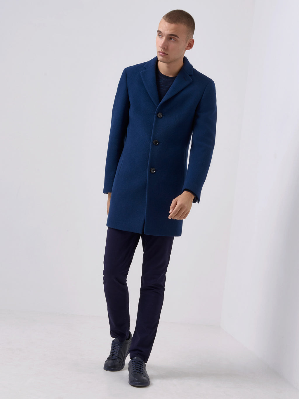 731c96fc90e ... Mens Winter Jackets from Remus Uomo Remus Uomo Overcoat 90216 Blue  Ruben Overcoat Remus Uomo