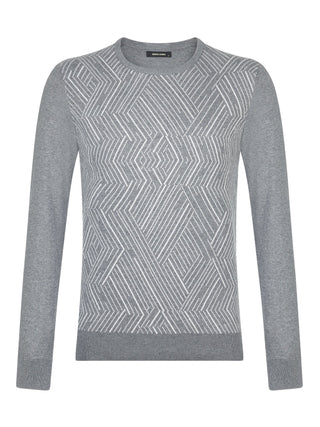 mens grey slim fit jumper