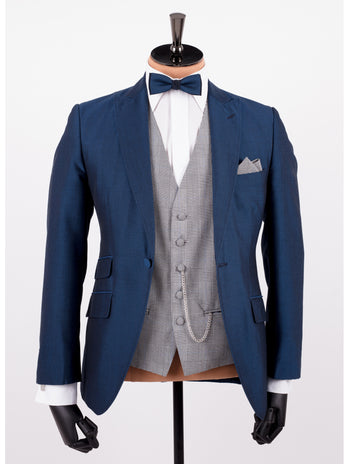 Royal Blue Mohair Wedding Suit