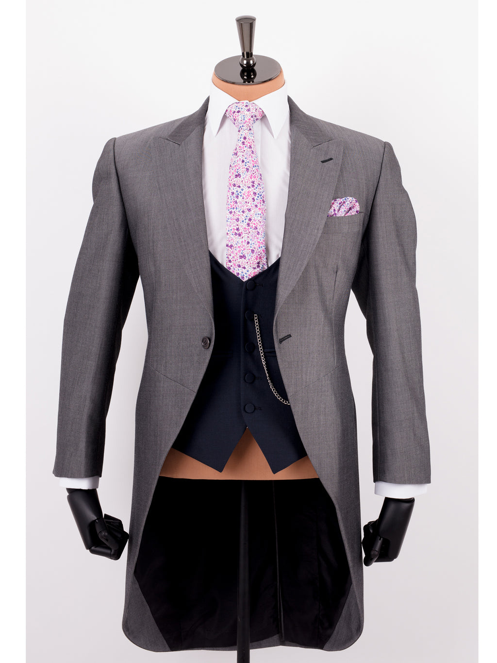 Grey Mohair Tailcoat Wedding Suit