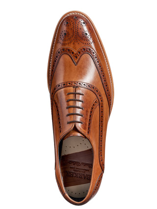 valiant brown hand painted barker shoes