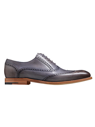 barker shoes valiant grey hand painted shoe