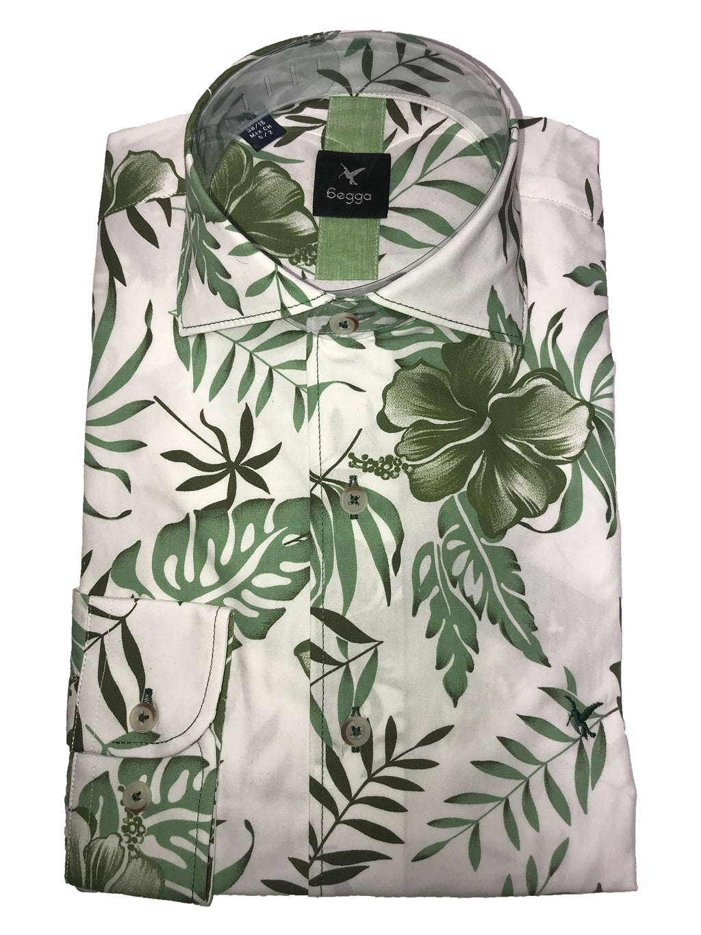 white leaf shirt
