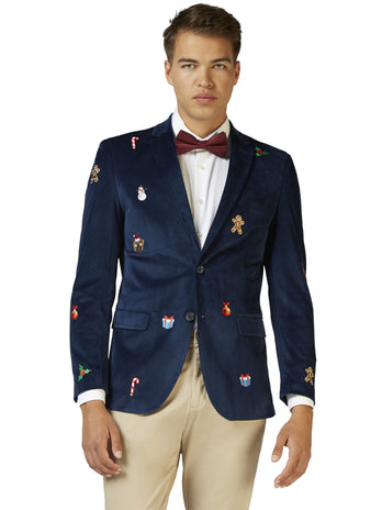 Navy Christmas Blazer