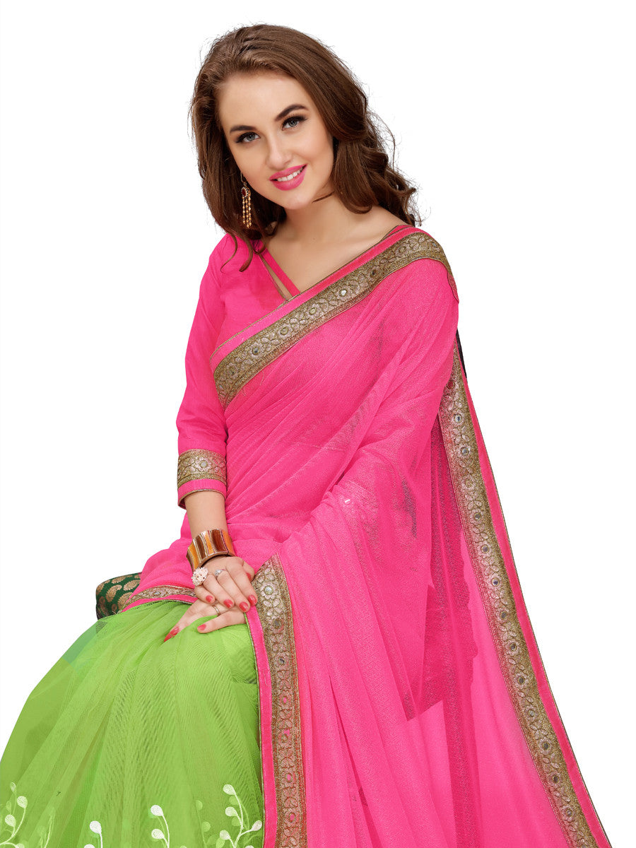 Buy Sarees Online Purchase Pink Green Sarees Online Party Wear Sarees Reception Sarees New Saree Collections Latest Saree Collection Georgette Sarees Embroidered Sarees Casual Sarees Festival Sarees Cash On Delivery Free Shipping