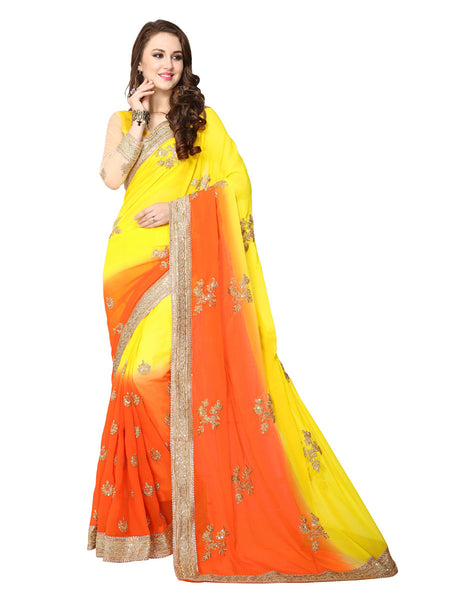 Buy Sarees Online Purchase Yellow Sarees Online Party Wear Sarees Reception Sarees New Saree Collections Latest Saree Collection Georgette Sarees Embroidered Sarees Casual Sarees Festival Sarees Cash On Delivery Free Shipping
