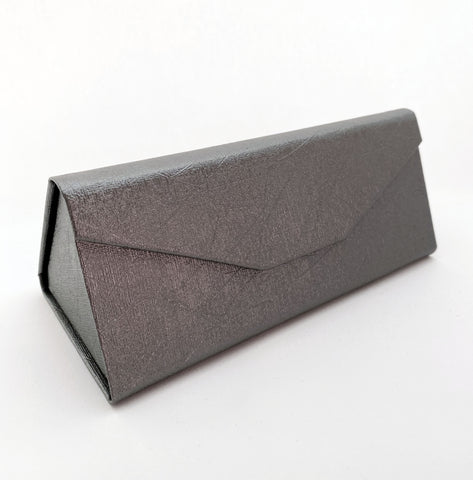Eco Leather Sunglasses Case-Metallic Grey - edocollection