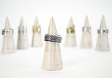 Adjustable Silver Band  Rings - edocollection