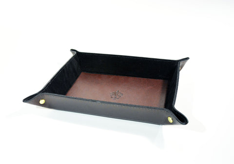 Leather Valet-Tray Brown - edocollection