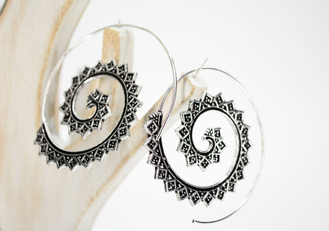 Big Brass Spiral Earrings - edocollection