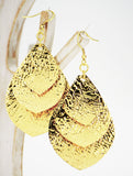 Golden Leaves Statement Earrings - edocollection