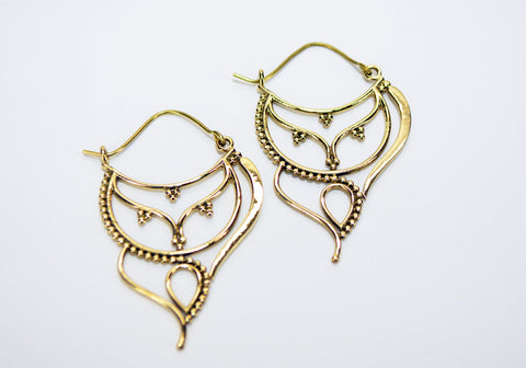 Decorated Tear Drop Earrings - edocollection