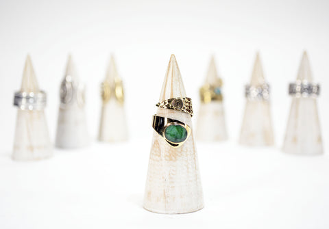 Emerald Root Wrap Ring - edocollection