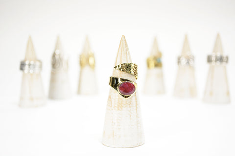 Rhodonite Wrap Ring - edocollection