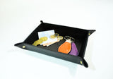 Genuine Leather Valet Tray- Black - edocollection
