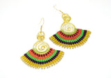 Macrame' Dangle Earrings Yellow - edocollection