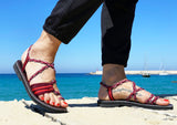 Paracord Braided Summer Sandals Pink-edocollection