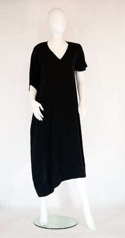 Kaftan Pocket Dress- Black - edocollection