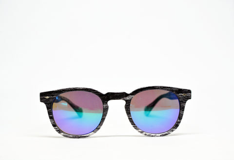 Wood Print Frame Wayfarer Sunglasses - edocollection