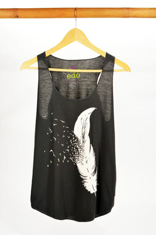 Feather Tank Top Grey - edocollection