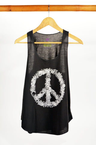 Peace Tank Top Grey - edocollection