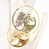 Brass Spiral Earrings Tree of Life - edocollection