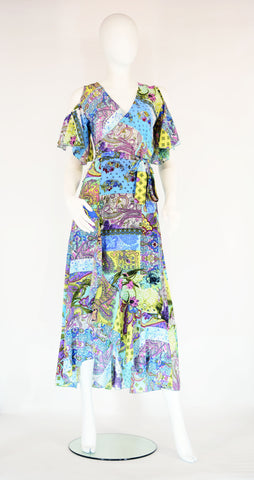 Wrap Around Maxi Dress - Kimono - edocollection