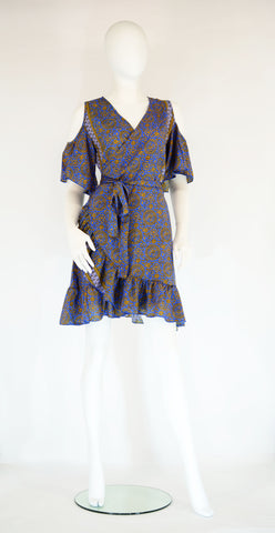 Wrap Around Short Dress - edocollection