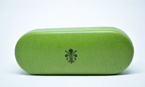 Large Leather Glasses Case-Green - edocollection