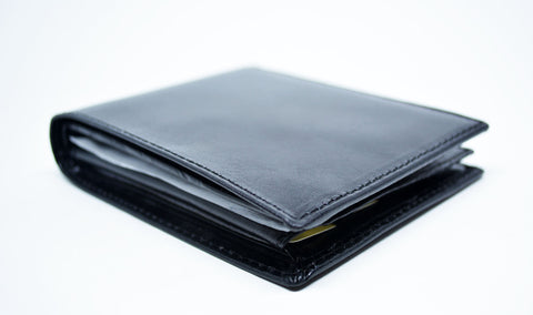 Leather Bifold Wallet Black - edocollection