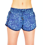 Blu Floral Shorts - edocollection