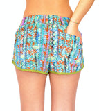 Floral Shorts Green - edocollection