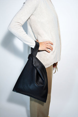 Black Leather Handbag - edocollection