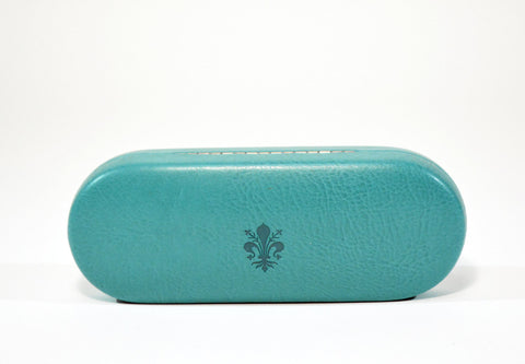 Slim Leather Glasses Case -Teal - edocollection