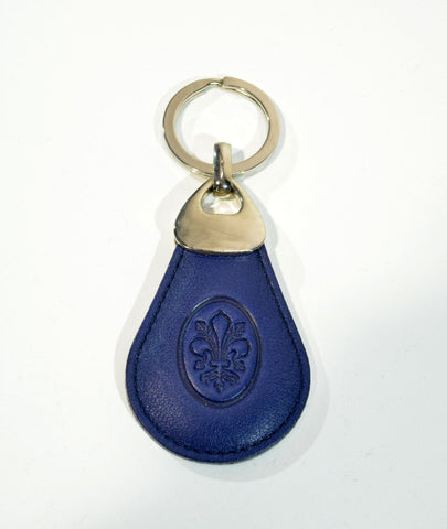 Blu Leather Key Ring - edocollection