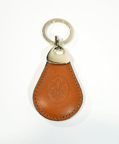 Tan Leather Key Ring For Men-Made in Italy - edocollection